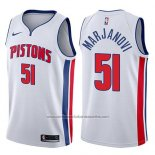 Camiseta Detroit Pistons Boban Marjanovic #51 Association 2017-18 Blanco