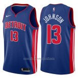Camiseta Detroit Pistons Brice Johnson #13 Icon 2017-18 Azul