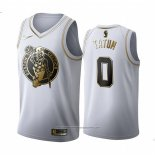 Camiseta Golden Edition Boston Celtics Jayson Tatum NO 0 Blanco