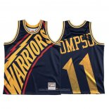 Camiseta Golden State Warriors Klay Thompson NO 11 Mitchell & Ness Big Face Azul
