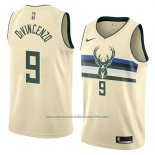 Camiseta Milwaukee Bucks Donte Divincenzo #9 Ciudad 2018 Crema