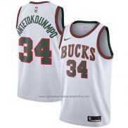 Camiseta Milwaukee Bucks Giannis Antetokounmpo #34 2017-18 Blanco