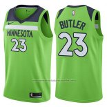 Camiseta Minnesota Timberwolves Jimmy Butler #23 Statement 2017-18 Verde