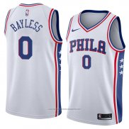 Camiseta Philadelphia 76ers Jerryd Bayless #0 Association 2018 Blanco