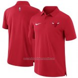 Camiseta Polo Chicago Bulls Rojo
