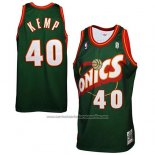 Camiseta Seattle SuperSonics Shawn Kemp #40 Historic Retro Verde