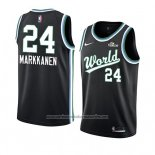 Camiseta 2019 Rising Star Lauri Markkanen #24 USA Negro