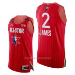 Camiseta All Star 2020 Western Conference Lebron James NO 2 Rojo