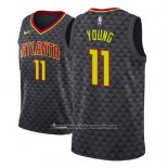 Camiseta Atlanta Hawks Trae Young #11 Icon 2018 Negro