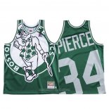 Camiseta Boston Celtics Paul Pierce NO 34 Mitchell & Ness Big Face Verde