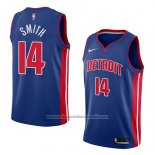 Camiseta Detroit Pistons Ish Smith #14 Icon 2018 Azul