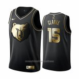 Camiseta Golden Edition Memphis Grizzlies Brandon Clarke NO 15 Negro