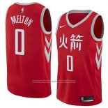 Camiseta Houston Rockets De'Anthony Melton #0 Ciudad 2017-18 Rojo