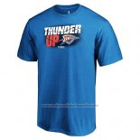 Camiseta Manga Corta Oklahoma City Thunder Azul 2019 NBA Playoffs Thunder Up