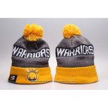 Gorro Beanie Golden State Warriors Gris Amarillo