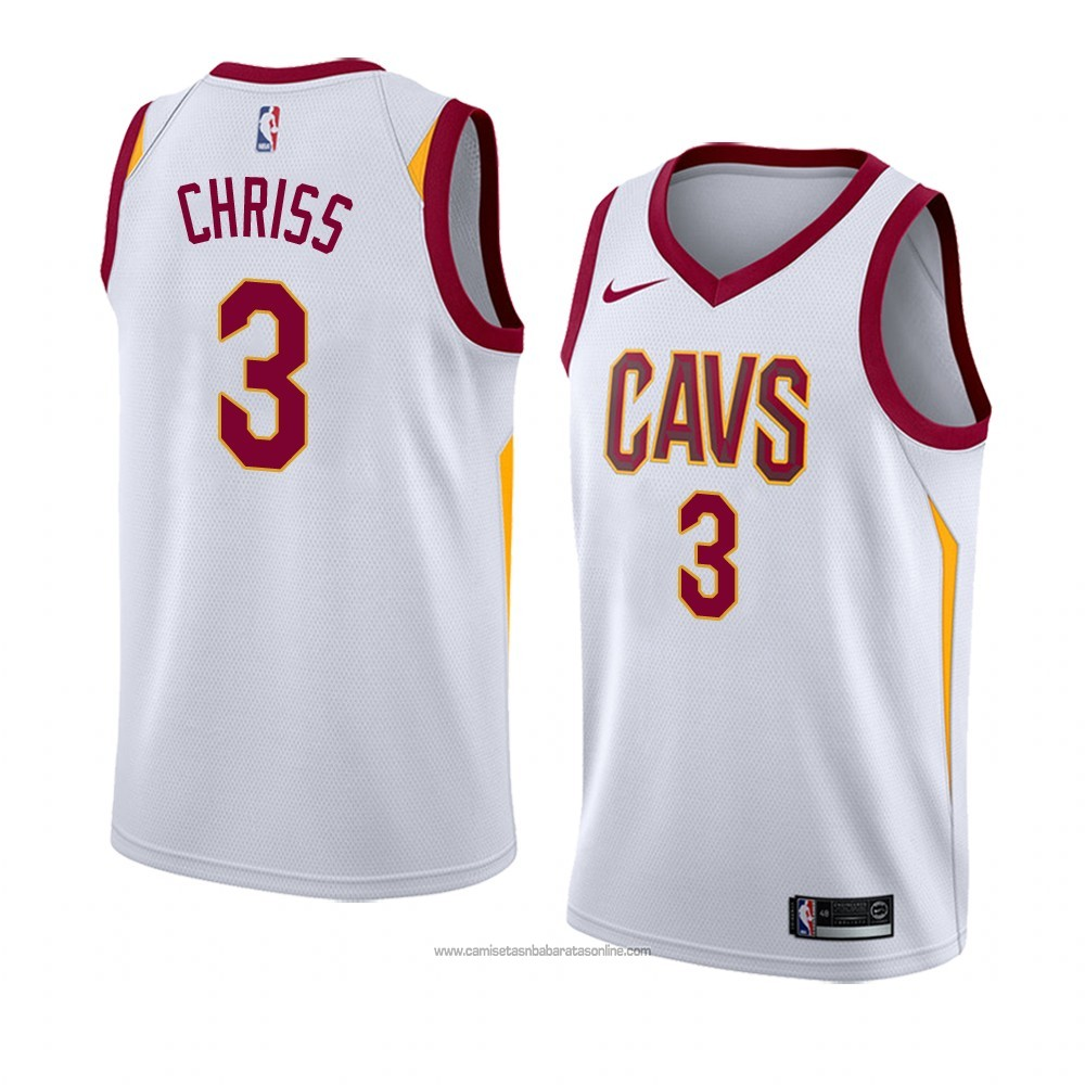 Camiseta Cleveland Cavaliers Marquese Chriss #3 Association 2018 Blanco