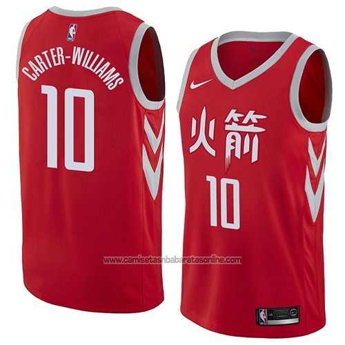 Camiseta Houston Rockets Michael Carter-williams #10 Ciudad 2018 Rojo