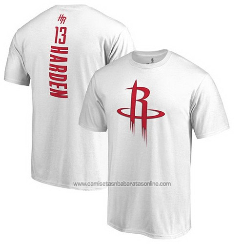 Camiseta Manga Corta James Harden Houston Rockets Blanco2