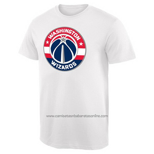 Camiseta Manga Corta Washington Wizards Blanco2